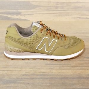 New Balance 574 Wheat Suede Sneakers